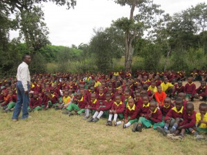 Masii Township with  200, or so, kids on May 30, 2013